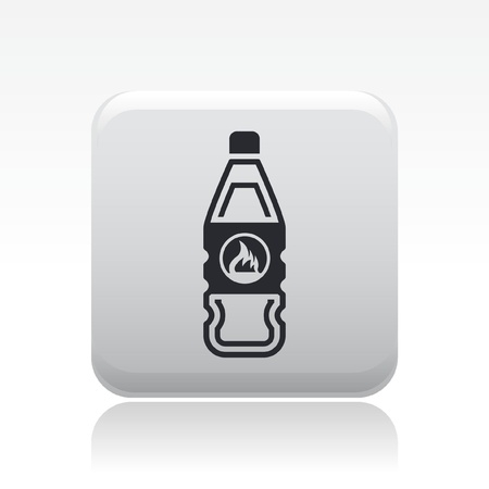 Vector illustration of single isolated flammable bottle icon Stock Vector - 12127102