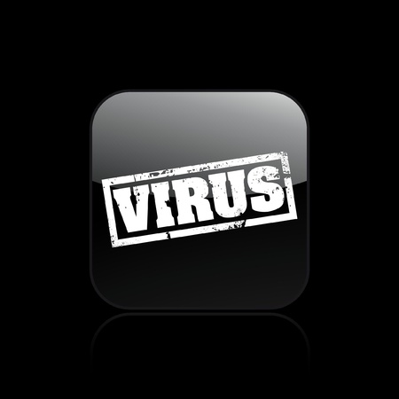 Vector illustration of single isolated virus icon Stock Vector - 12129607