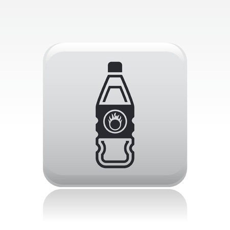 Vector illustration of single isolated danger bottle icon Stock Vector - 12127111