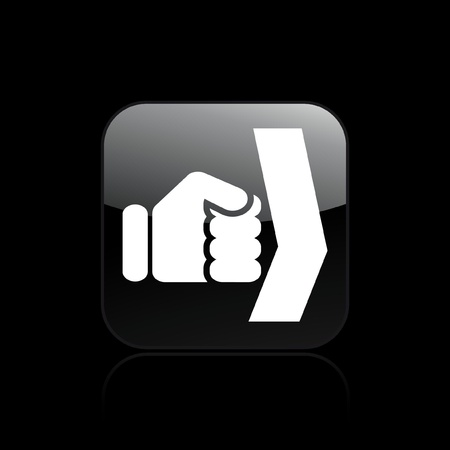 overthrow: Vector illustration of single isolated fist icon