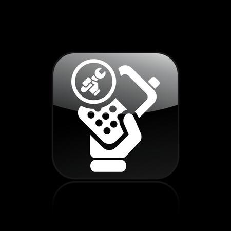 reparations: Ilustraci�n vectorial de un solo icono aislado reparaci�n de tel�fonos