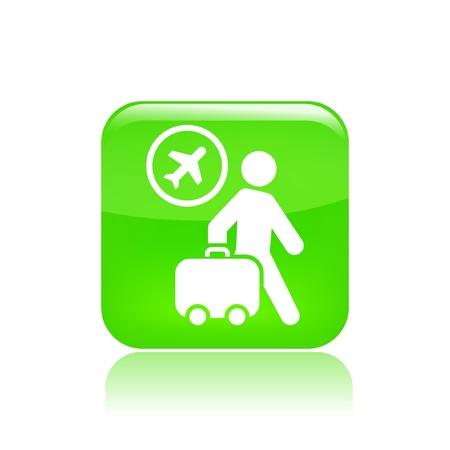 trolley case: Vector illustration of single isolated travel fly icon