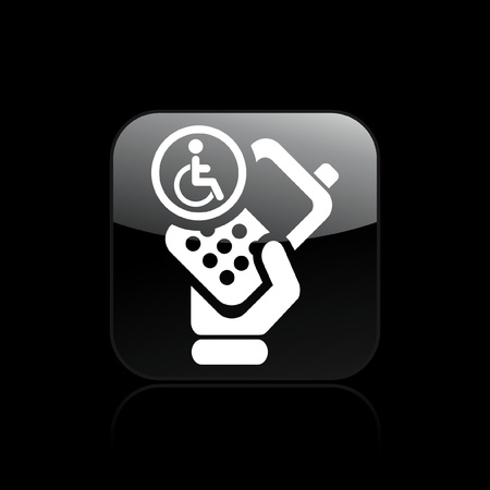 Vector illustration of single isolated handicap phone icon Stock Vector - 12129007