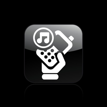 cellulare: Vector illustration of single isolated phone music icon