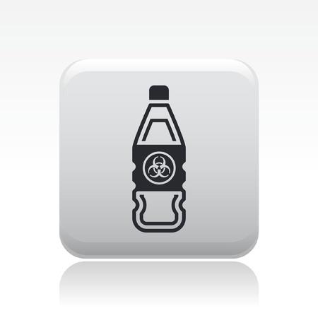 Vector illustration of single isolated bio danger icon Stock Vector - 12127117