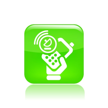 cellulare: Vector illustration of single isolated satellite phone icon