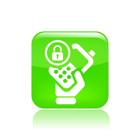 Vector illustration of single isolated lock phone icon Stock Vector - 12127442