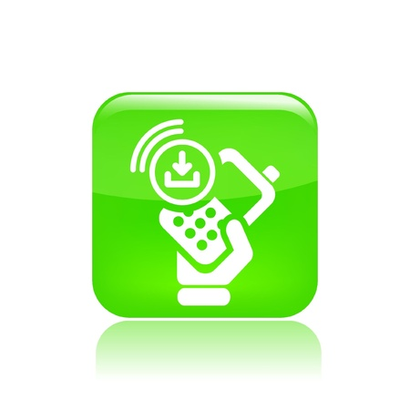 cellulare: Vector illustration of single isolated phone icon