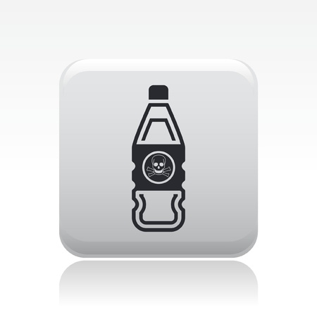 Vector illustration of single isolated danger bottle icon Stock Vector - 12127169