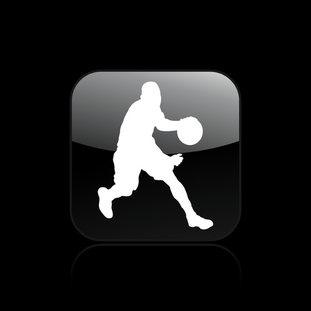 dribbling: Vector illustration of single isolated basketball icon