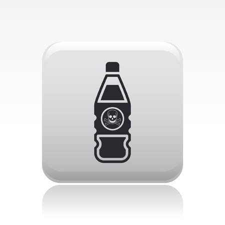 Vector illustration of single isolated danger bottle icon Stock Vector - 12127150