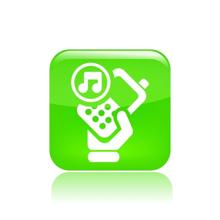 Vector illustration of single isolated phone audio icon Stock Vector - 12127434