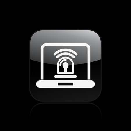 Vector illustration of single isolated alarm pc icon Stock Vector - 12128933