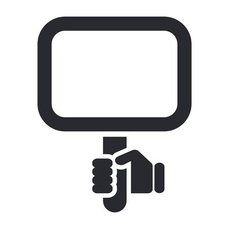 cartel: Vector illustration of single isolated cartel icon Illustration