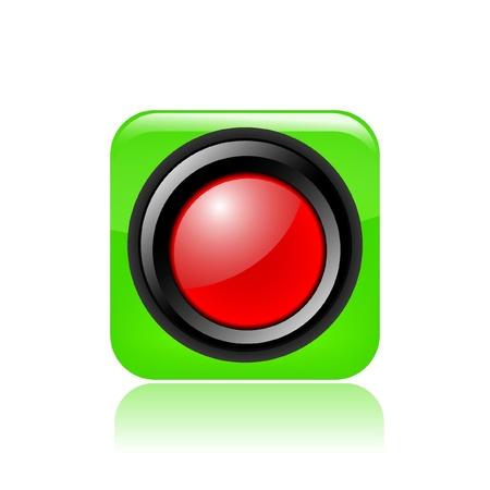 red traffic light: Vector illustration of single isolated red traffic light icon Illustration