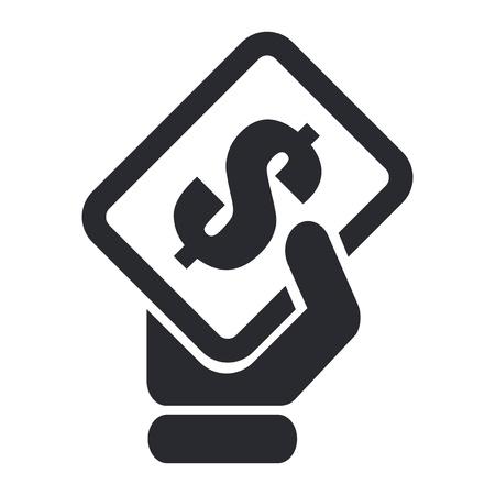 cash money: Ilustración vectorial de un solo ícono de caja aislada