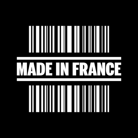 made in france: Vector illustration of single isolated made in france icon Illustration