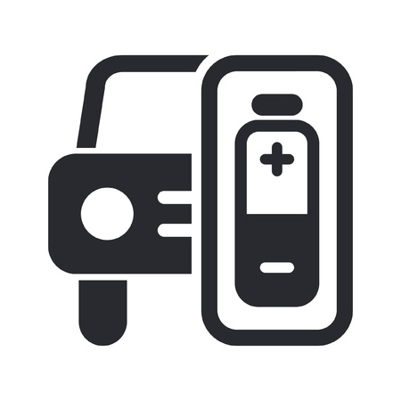 Vector illustration of single isolated car energy icon Stock Vector - 12127603