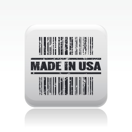 Vector illustration of single isolated made in USA icon Vector