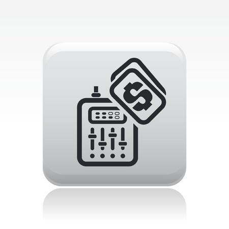dee jay: Vector illustration of single isolated mixer icon