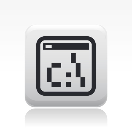 dos: Vector illustration of single isolated dos pixel icon