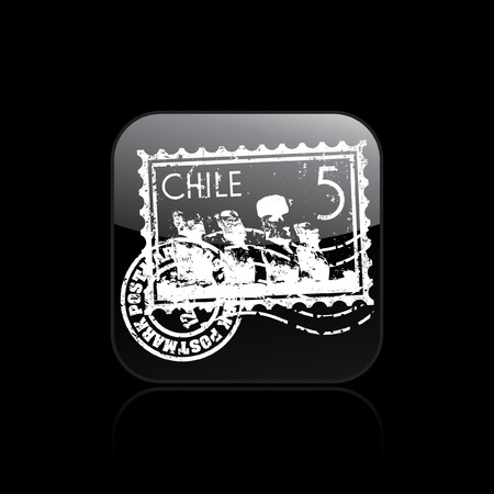 moai: Vector illustration of single isolated Chile icon Illustration
