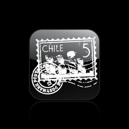 moai: Vector illustration of single isolated Chile icon Illustration
