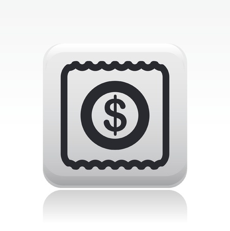 Vector illustration of single isolated pay icon Stock fotó - 12128085