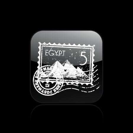 Vector illustration of single isolated Egypt icon Vector