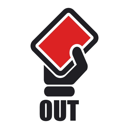 keep out: Vector illustration of single isolated out red icon