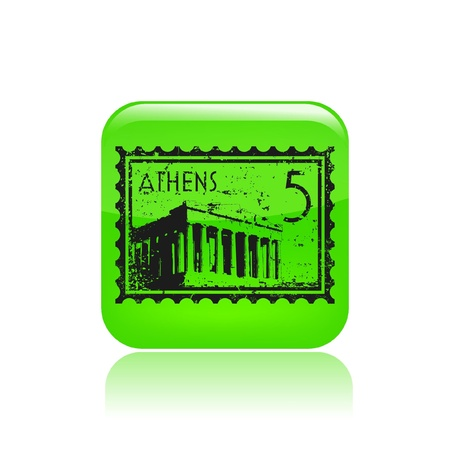 Vector illustration of single isolated athenian icon