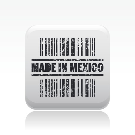 Vector illustration of single isolated Mexico icon Stock Vector - 12129175