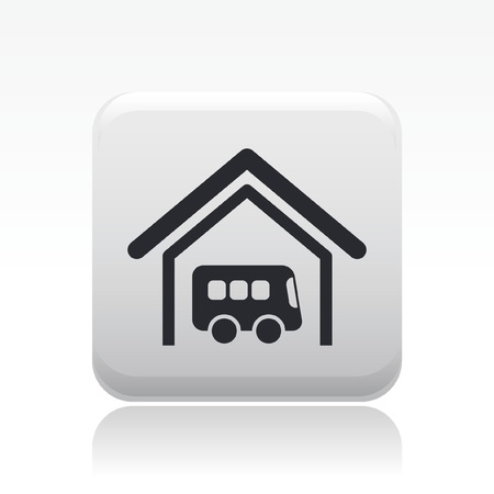 Vector illustration of single isolated bus station icon Vector