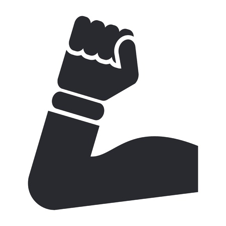 muskelaufbau: Vektor-Illustration von einzelnen isolierten Muskel-Symbol