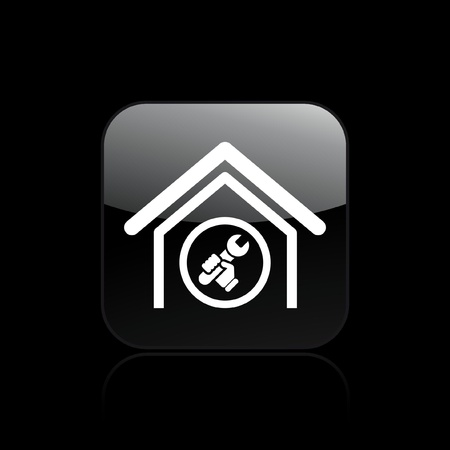 adjust: Vector illustration of single isolated adjust home icon