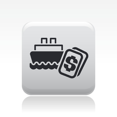 Vector illustration of single isolated boat price icon Stock Vector - 12127003