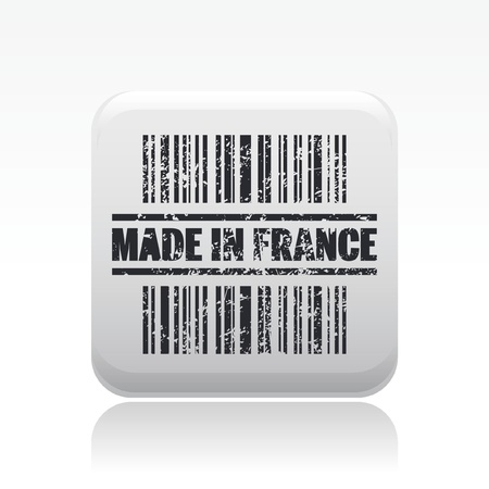 Vector illustration of single isolated made in France icon Vector