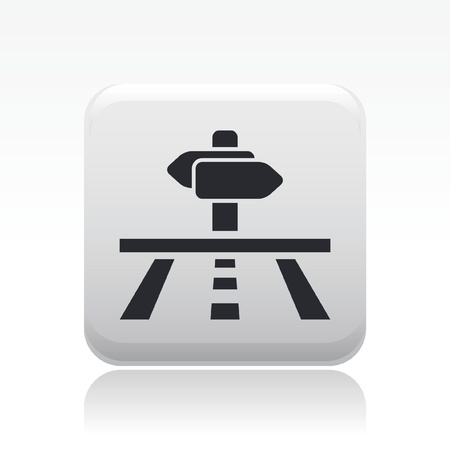 cartel: Vector illustration of single isolated direction icon