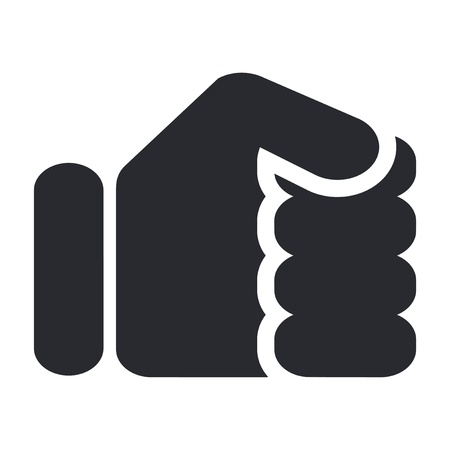 closed: Vector illustration of single isolated fist icon