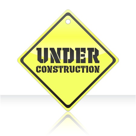 under construction icon: Vector illustration of single isolated under construction icon Illustration