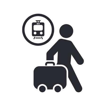 railcar: Vector illustration of single isolated travel icon