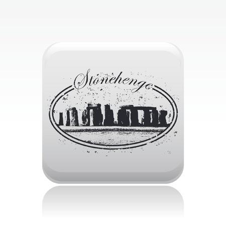 stonehenge: Vector illustration of single isolated Stonehenge stamp
