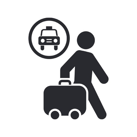 Vector illustration of single isolated taxi icon Vector