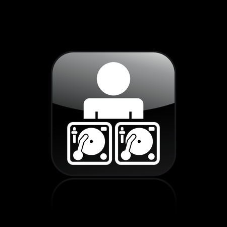 dee jay: Vector illustration of single isolated dee jay icon