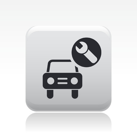 Vector illustration of single isolated car repair icon Stock Vector - 12126587