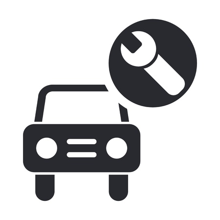 car fix: Vector illustration of single isolated car repair icon Illustration