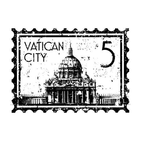 Vector illustratie van enkele geïsoleerde Vaticaan pictogram