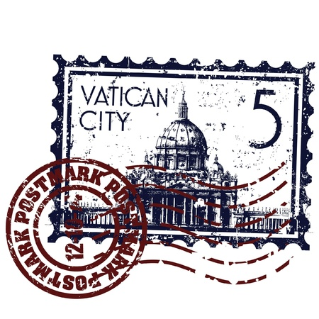 Vector illustration of single isolated Vatican icon Vector
