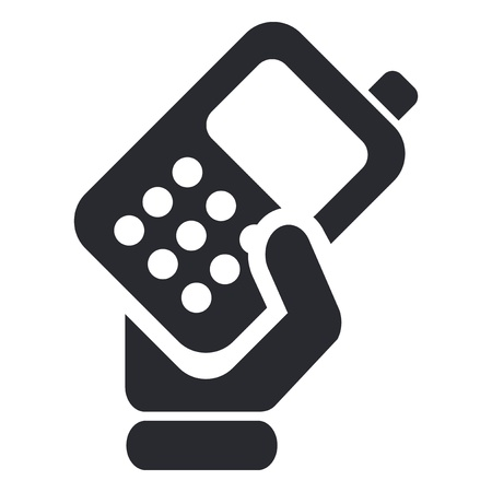 smartphone hand: Vector illustration of single isolated phone handing icon