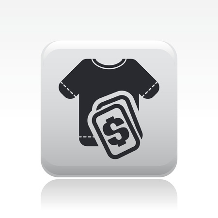 Vector illustration of single isolated t-shirt sale icon Stock Vector - 12127034